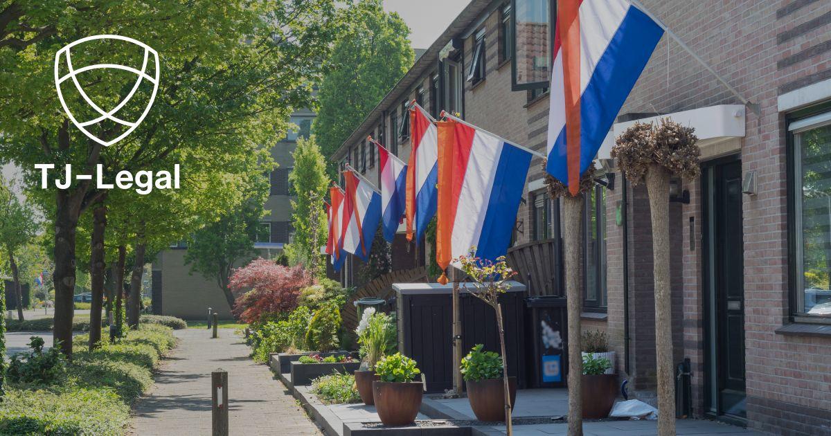 holandské vlajky na ulici